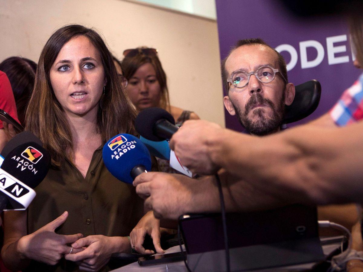 Foto: Belarra y Echenique, durante un acto de Unidas Podemos en Zaragoza. (EFE)