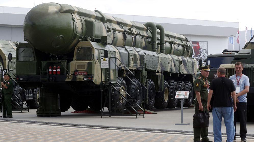 Foto: Vehículo de lanzamiento de un misil balístico estratégico ruso. (EFE)