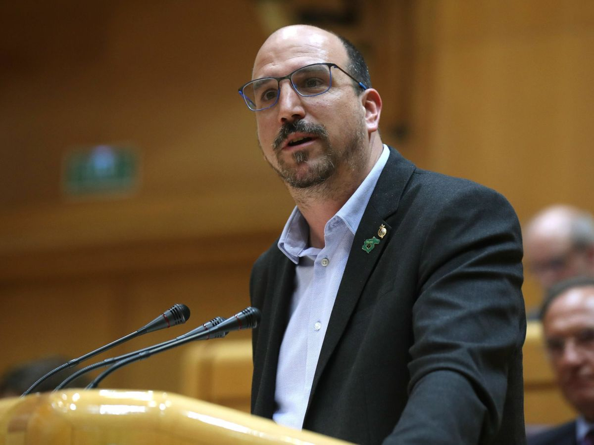 Foto: Joaquín Vicente Egea, senador de Teruel Existe. (EFE)