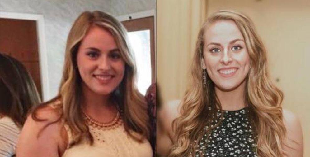 Foto: Kayla antes y después de perder cuatro tallas. (Foto: Instagram)