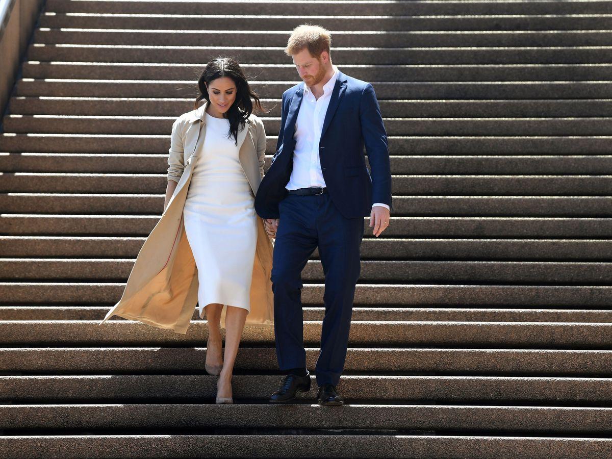 Foto: Meghan Markle y el príncipe Harry, en Australia. (Reuters)