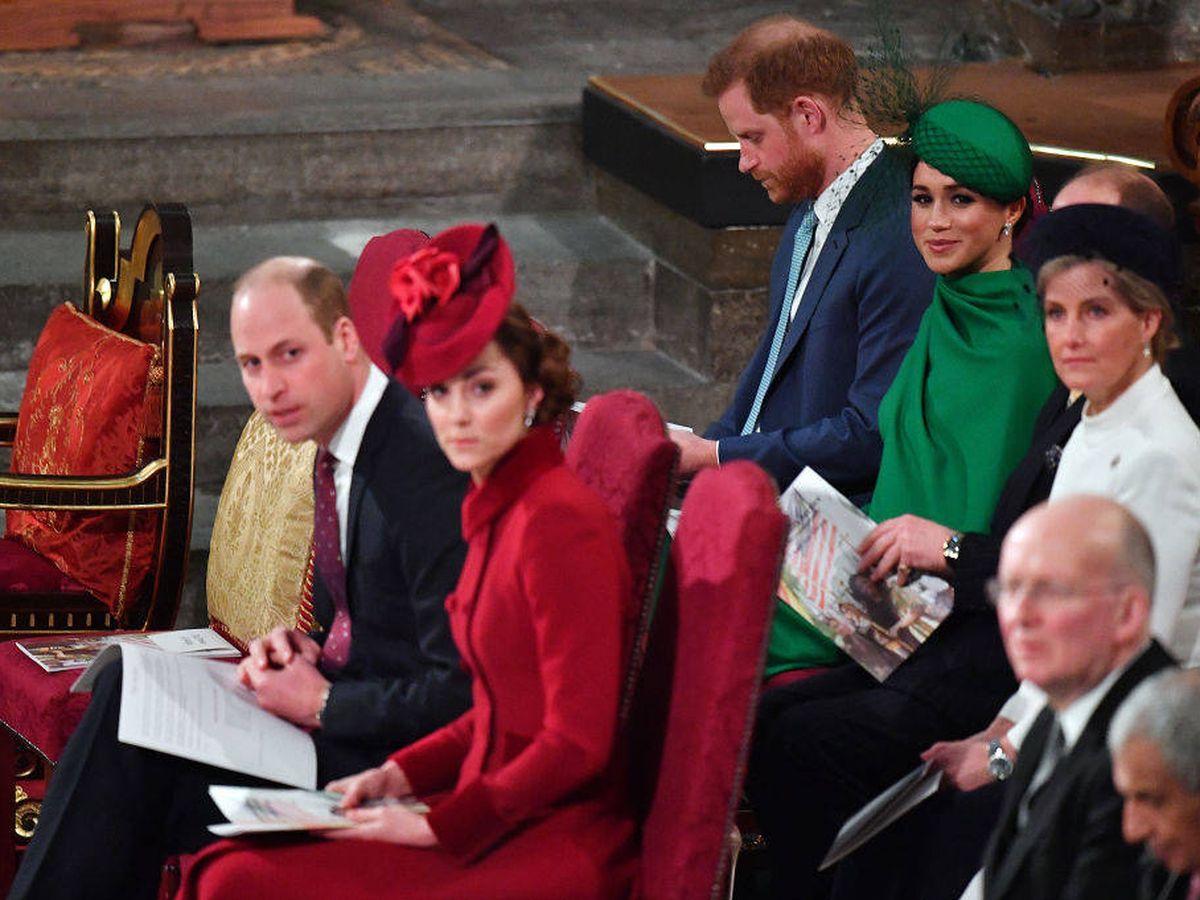 Foto: Los duques de Cambridge y los Sussex. (Getty)