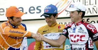 Foto: Heras se convierte en el Armstrong de la Vuelta