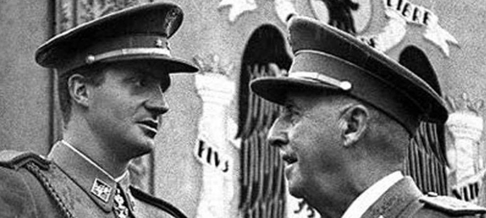 Foto: El príncipe Juan Carlos con Francisco Franco