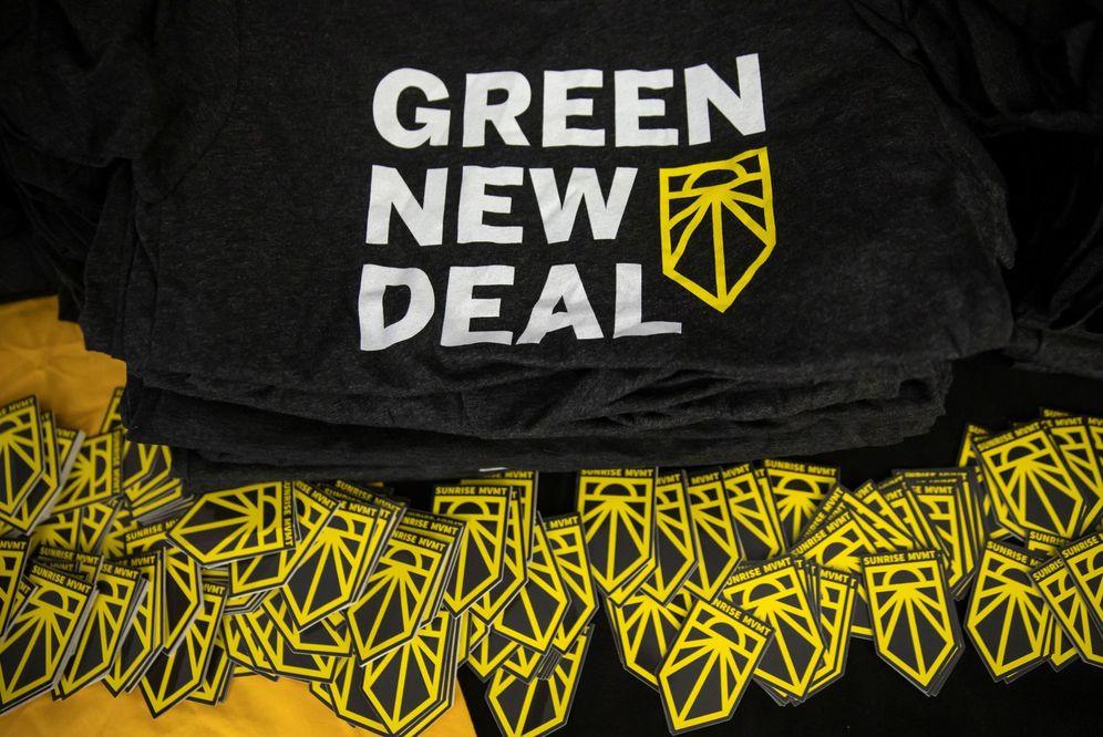 Foto: Parada final del 'road to a green new deal' en washington