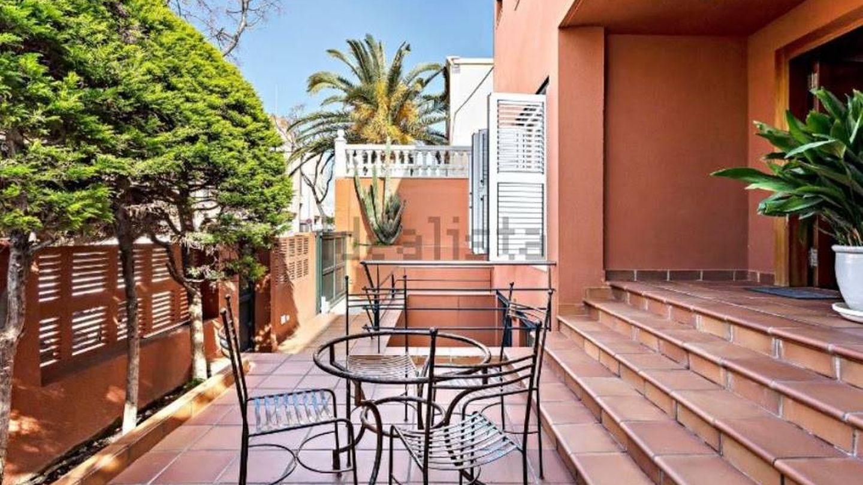 El patio de la casa familiar de Ana Soria. (Idealista)