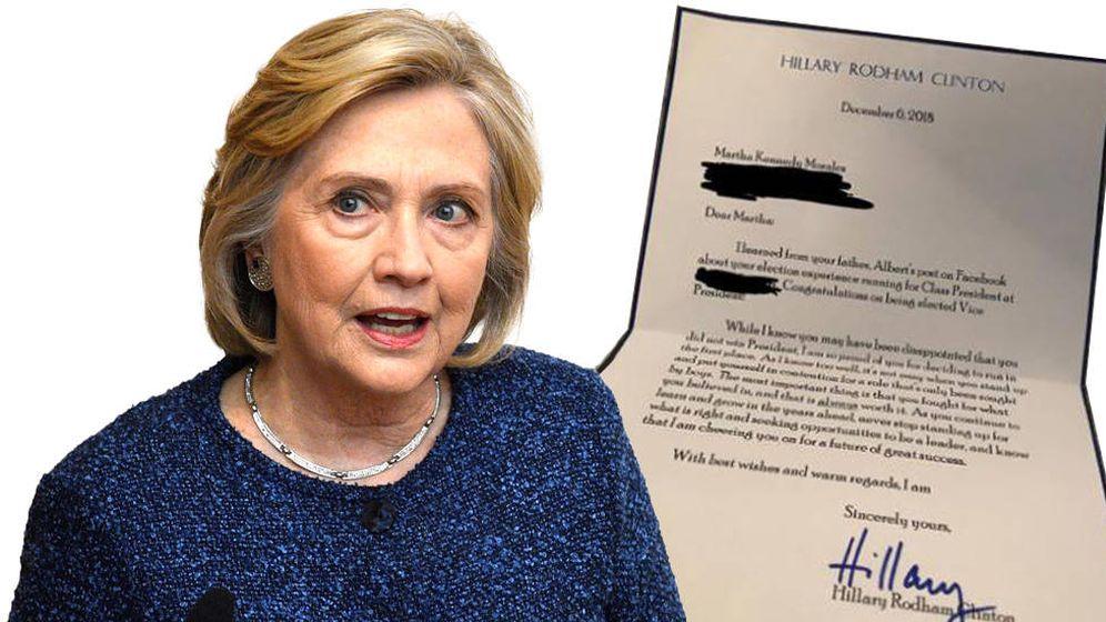 Foto: La carta que Hillary Clinton escribió a una niña de ocho años