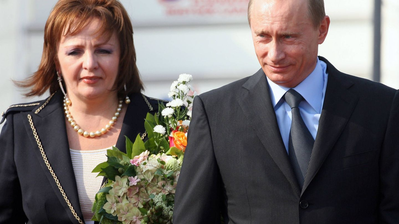 Putin con su exmujer, Liudmila Alexandrovna. (Getty)