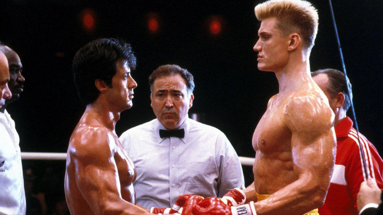 Sylvester Stallone y Dolph Lundgren en un momento de 'Rocky IV'.