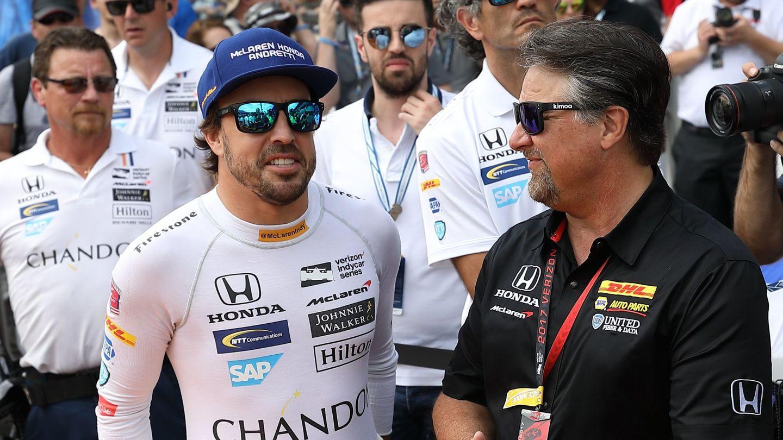 Andretti y Alonso en 2017. (EFE)