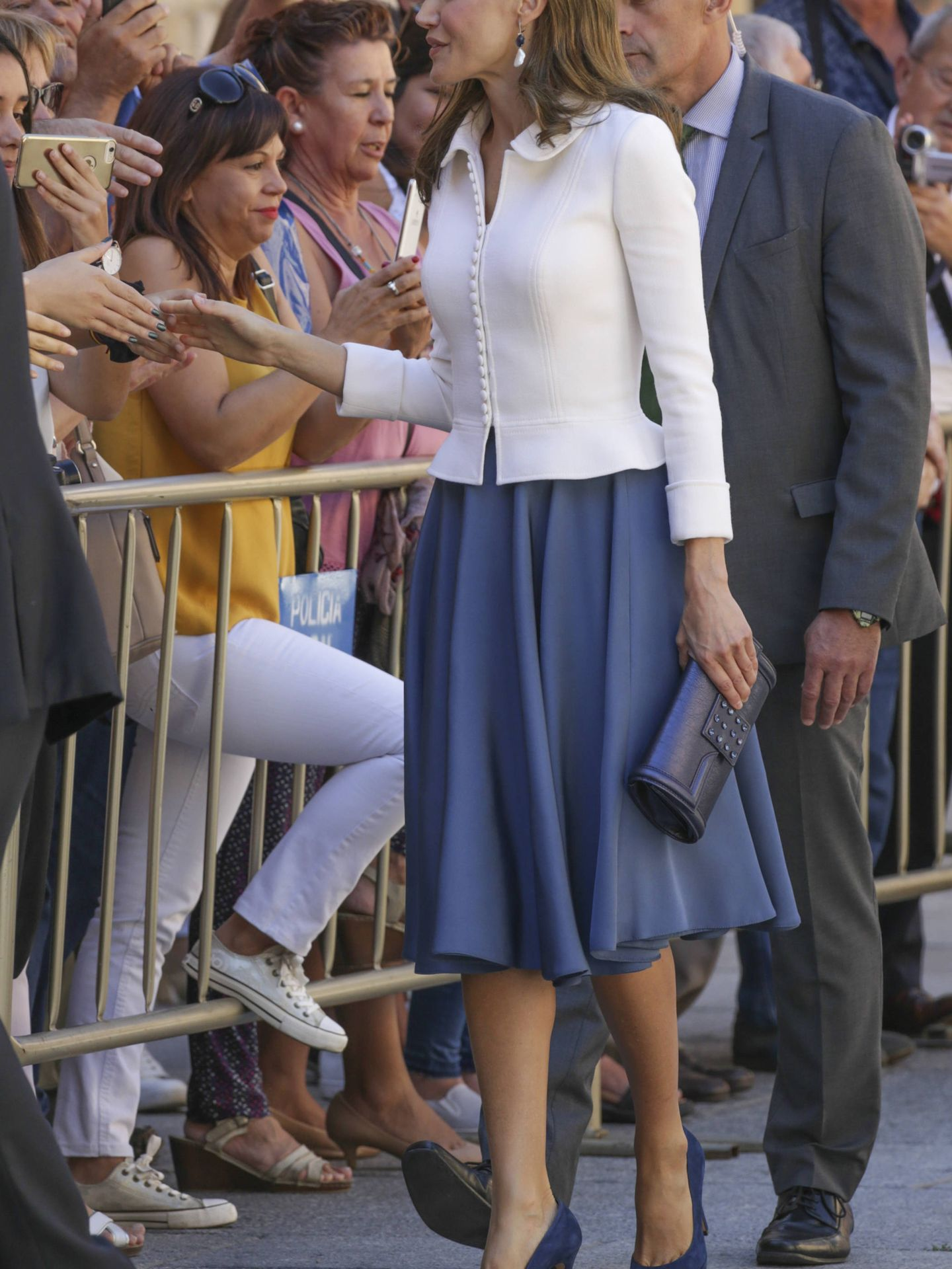 Spanish Queen Letizia Ortiz during inauguration of University Academic Year 2017/2018 in Salamanca on Thursday on 14 September 2017.