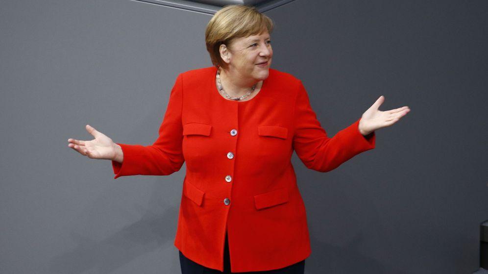 Foto: La canciller alemana, Angela Merkel, en el Bundestag. (Reuters)