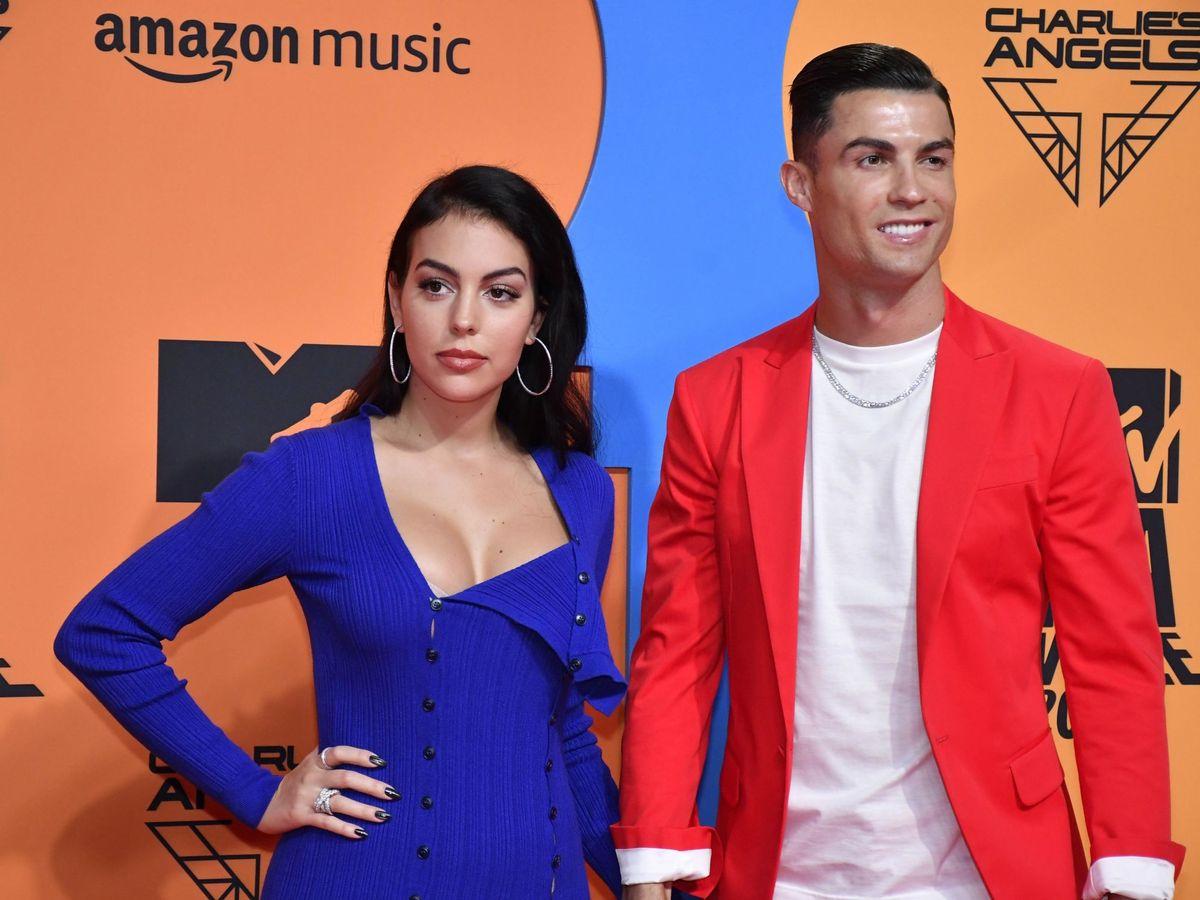 Foto: Cristiano y Georgina, en los premios MTV. (EFE)