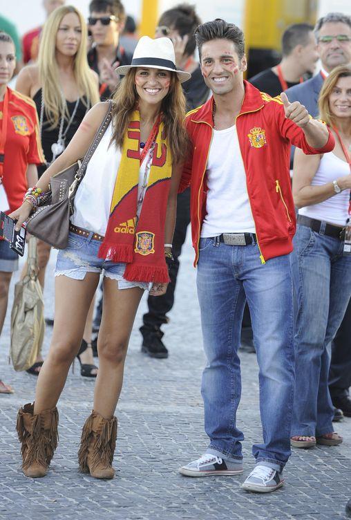 David y Paula celebrando la victoria en Sudafrica en 2010