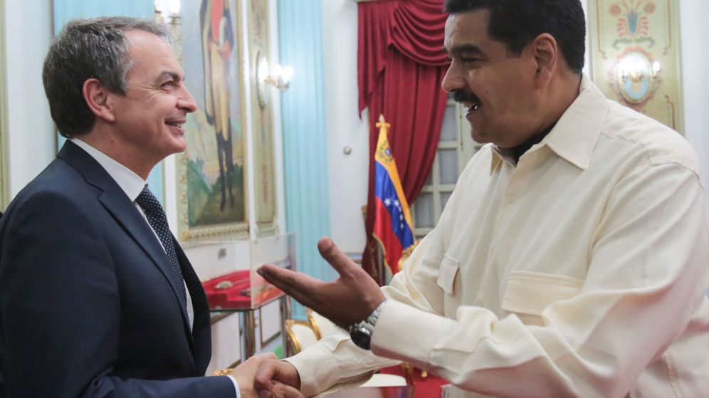 Foto: El presidente de Venezuela, Nicolás Maduro, y el expresidente español, José Luis Rodríguez Zapatero, el pasado 18 de mayo en Caracas. (EFE)