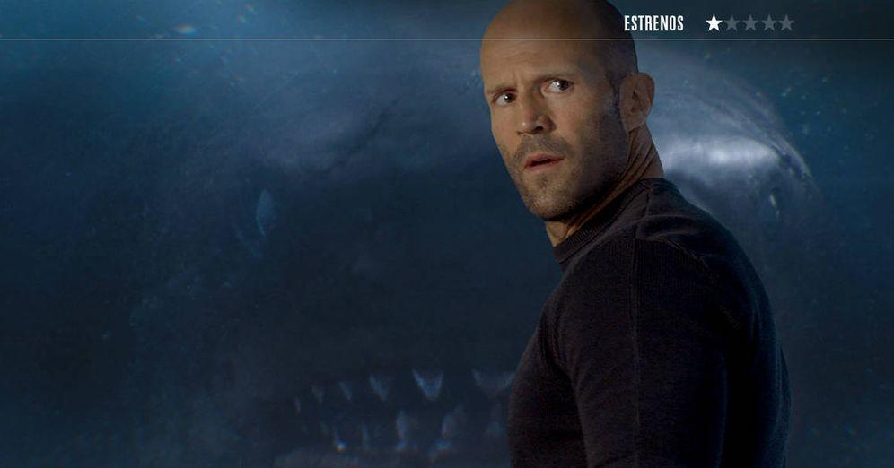 Foto: Jason Statham es el piloto submarino más rápido de 'Megalodón'. (Warner)