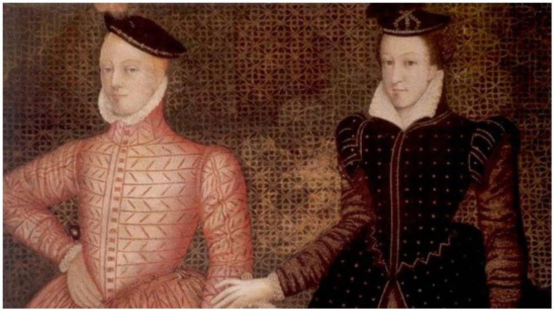 La reina de Escocia, junto a su segundo marido, lord Darnley. (Colección de Hardwick Hall)