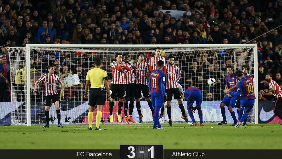 Solo otra genialidad de Messi rescata a un Barça sin identidad y sin juego