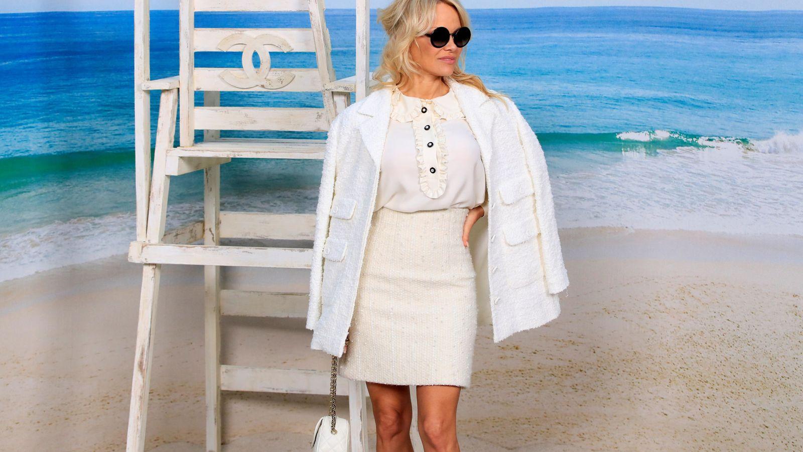 Foto: Pamela Anderson en la presentación. (Reuters)