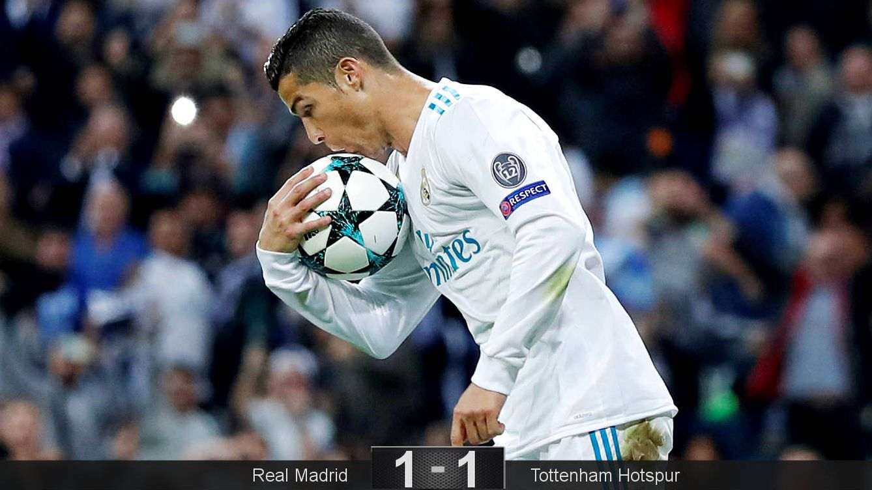 Cristiano neutraliza a Kane, pero el Real Madrid no supera a Pochettino