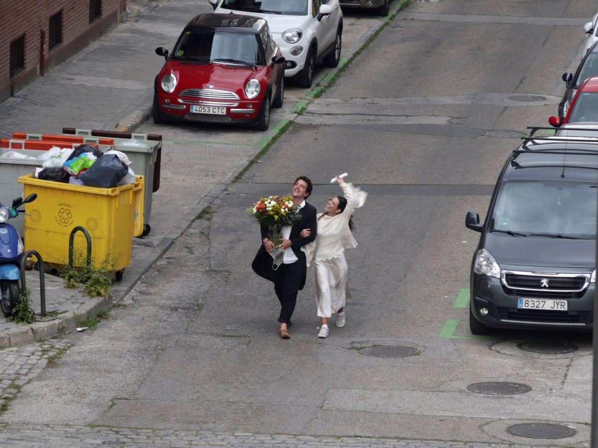 Foto: Una pareja de Trujillo pefirió no esperar y celebraron su boda en Madrid, a su manera. Foto: Efe