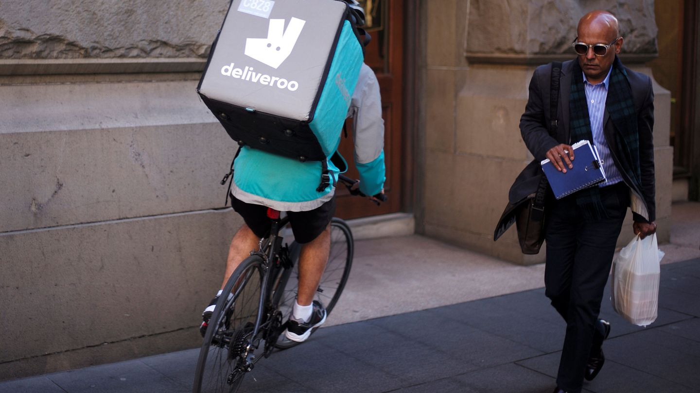 Un 'rider' de Deliveroo. (Reuters)