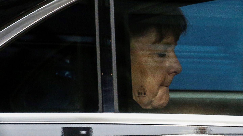 La canciller alemana, Angela Merkel, a su llegada a la cumbre de la Unión Europea. (EFE)