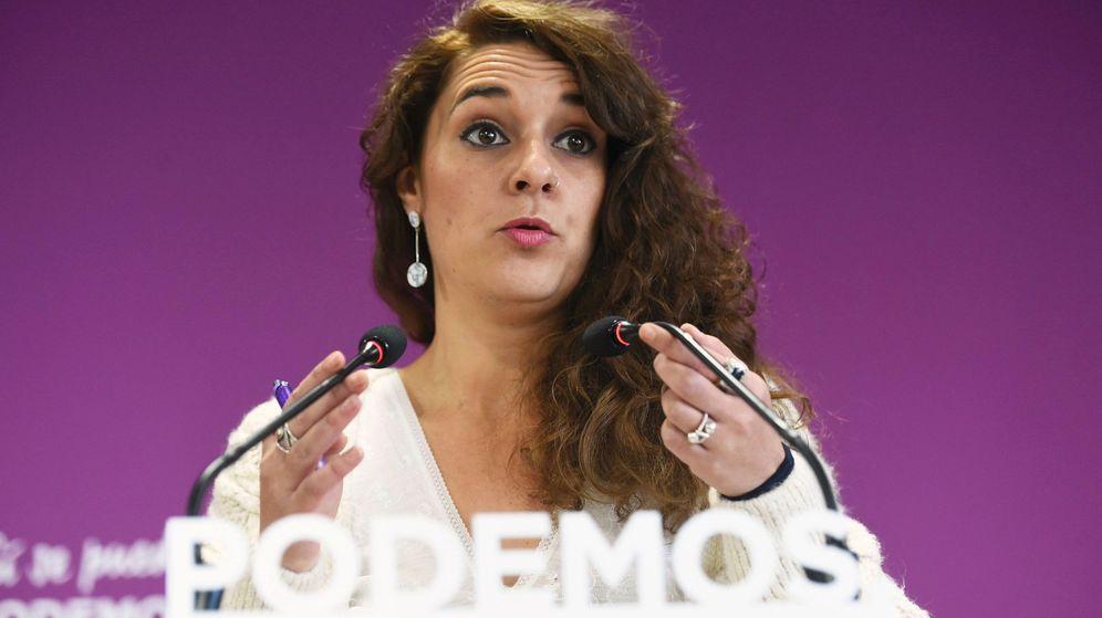 Foto: La portavoz de Podemos en la Comisión de Cooperación Internacional para el Desarrollo, Noelia Vera. (EFE)