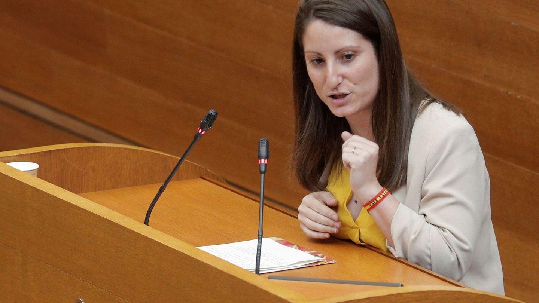 Ana Vega, durante su turno de intervención. (EFE)