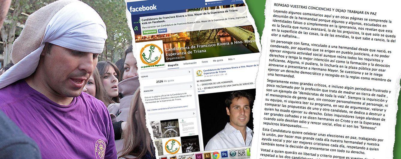 Foto: Francisco Rivera junto a un pantallazo de su perfil de Facebook (Fotomontaje: Vanitatis)