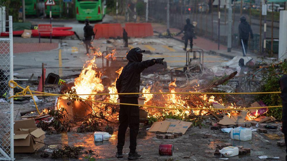 Foto: Protestas en Hong Kong. (EFE)