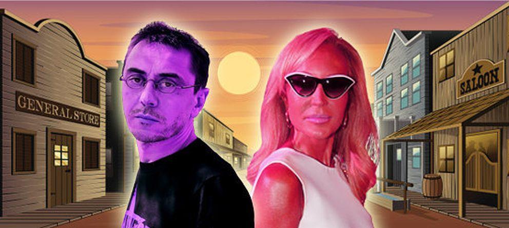 Foto: Juan Carlos Monedero y Carmen Lomana, en un montaje fotográfico (Vanitatis)