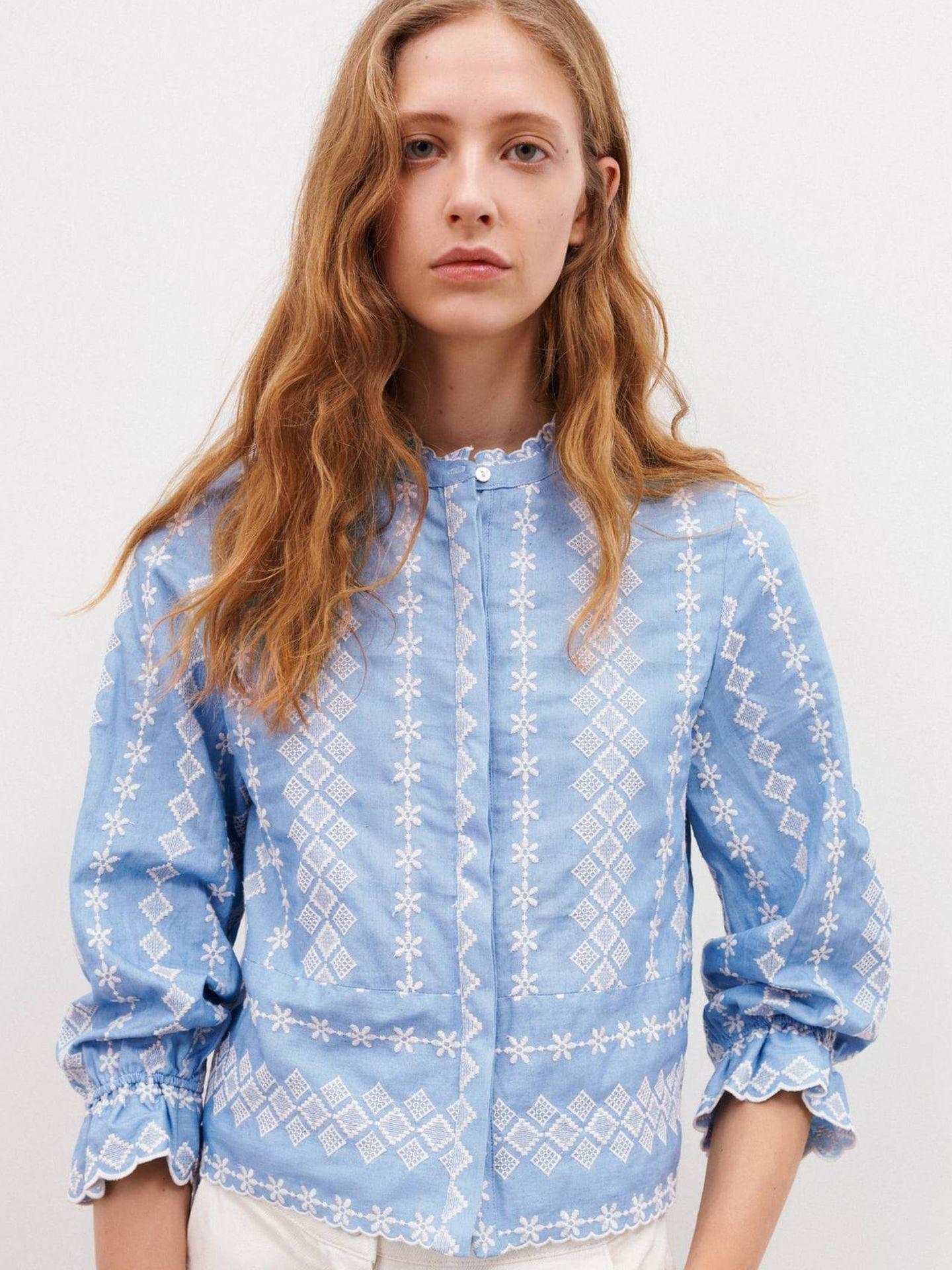 Camisa bordada de Zara. (Cortesía)