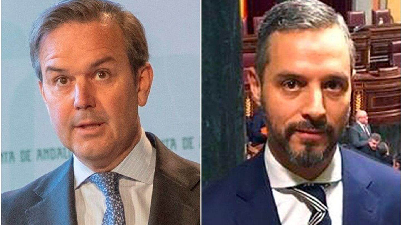 Alberto García Valera (i) renunció al cargo por motivos de salud y fue sustituido por Juan Bravo Baena. (EFE)