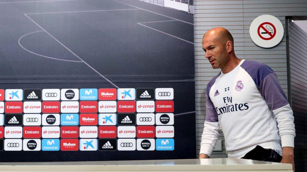 Foto: Zidane, en una rueda de prensa el pasado martes (Efe)