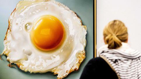 Un huevo frito hecho arte