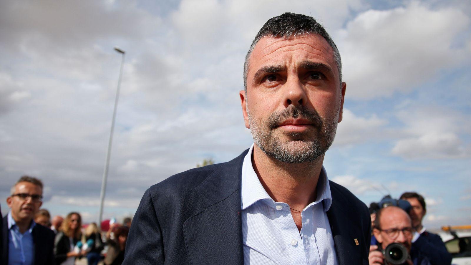 Foto: Santi Vila, a su salida de la cárcel de Estremera. (Reuters)
