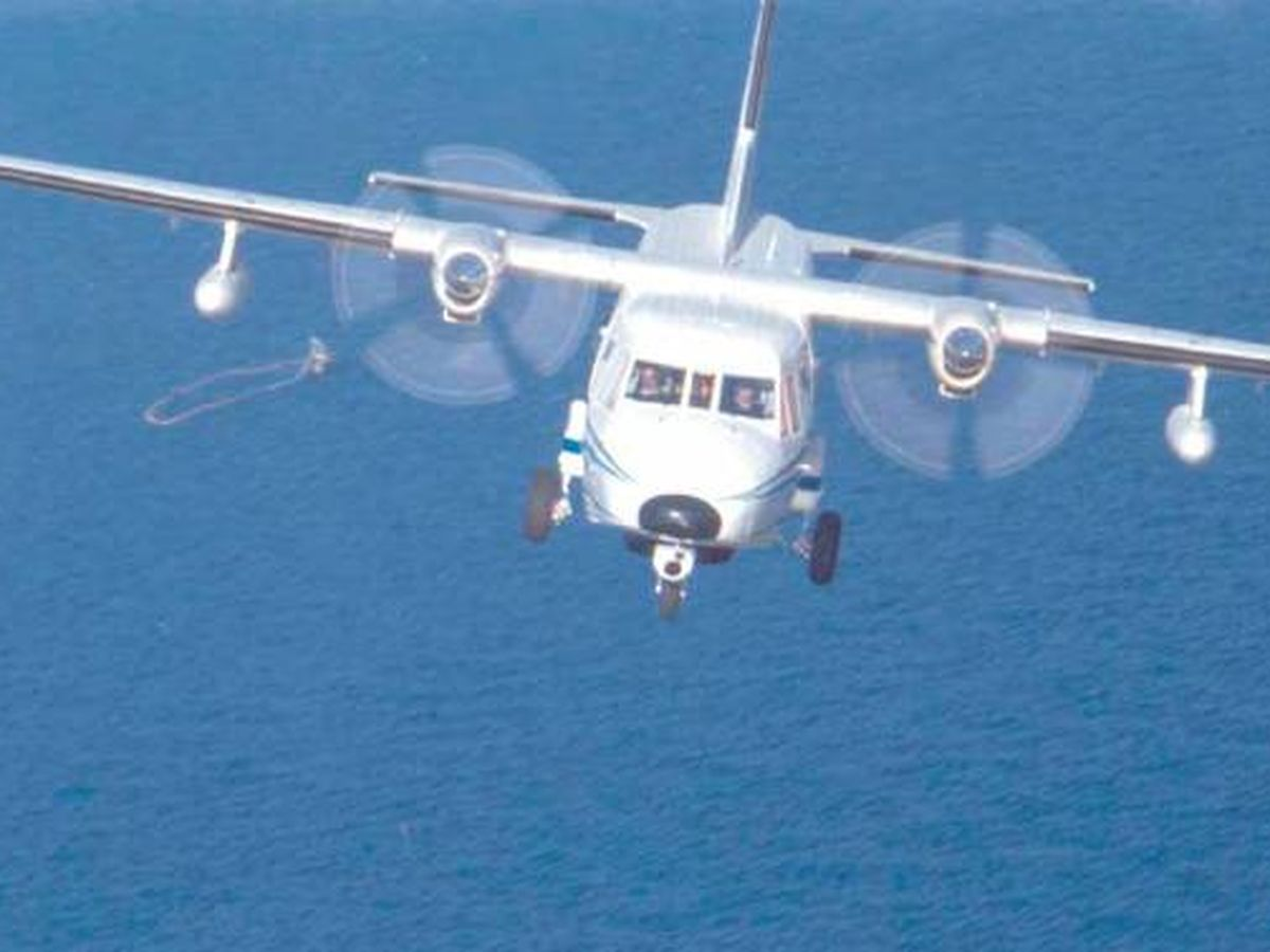 Foto: Avión de inspección pesquera Sancti Petri. (Ministerio de Agricultura)