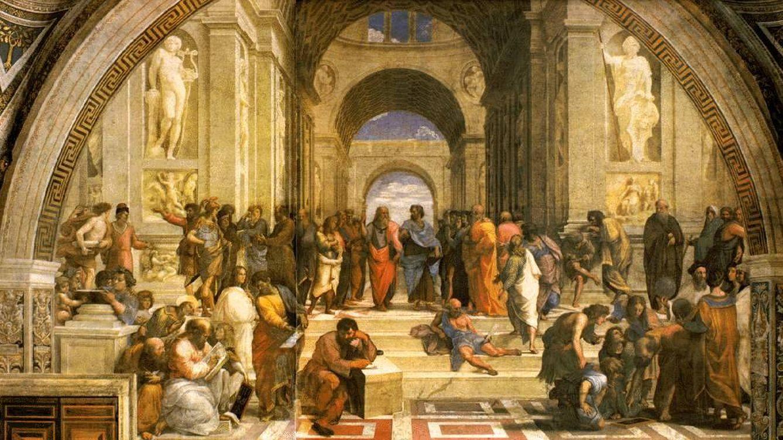 Foto: 'La escuela de Atenas', de Rafael.