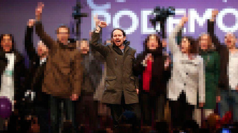 Foto: Pablo Iglesias y compañía dando el cante