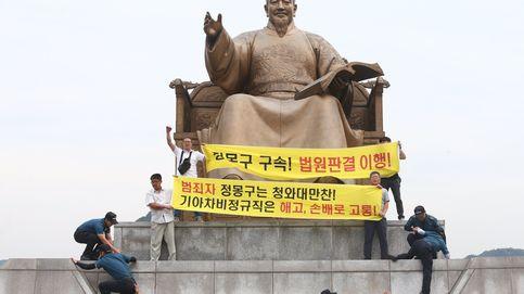 Protesta en Seúl de trabajadores no regulares