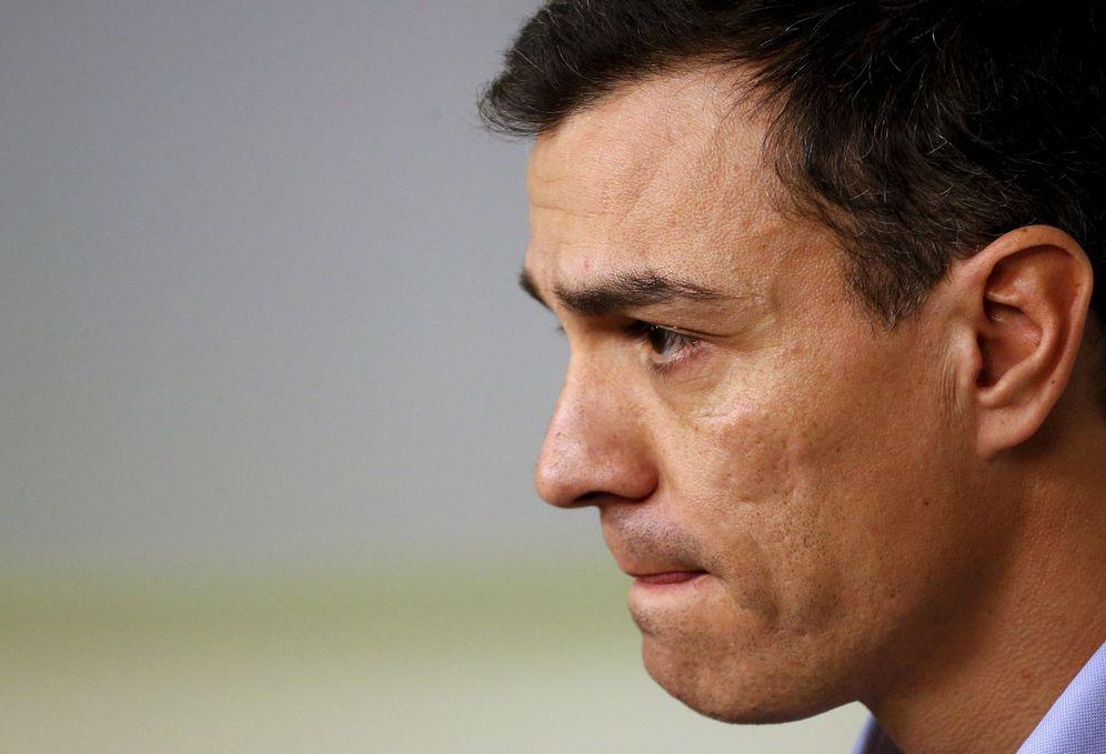 Foto: Pedro Sánchez, tras una reunión de la dirección del PSOE, el pasado 11 de enero en Ferraz. (Reuters)