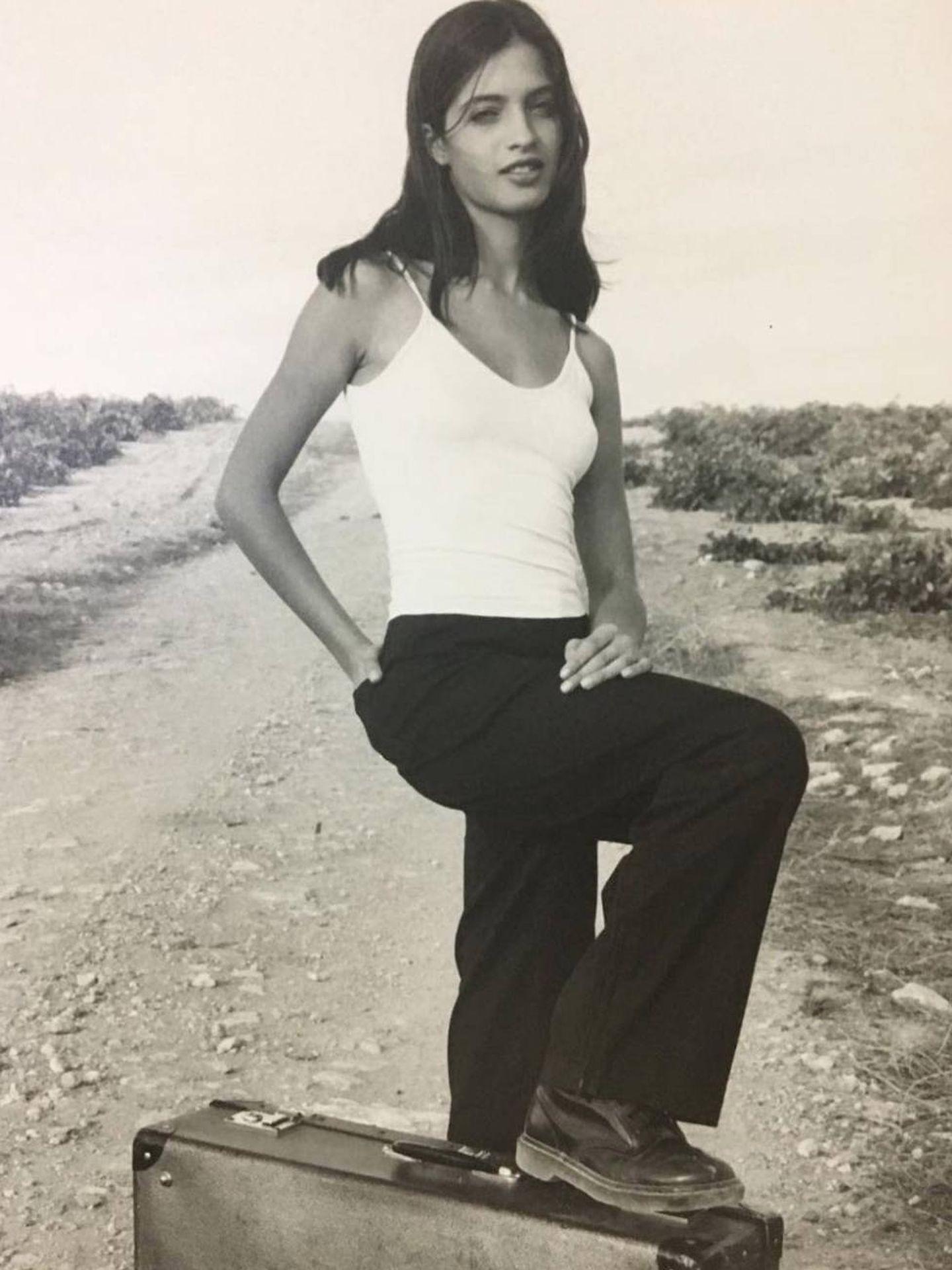 Sara en una imagen de 1998, cuando tenía 14 años. (Instagram)