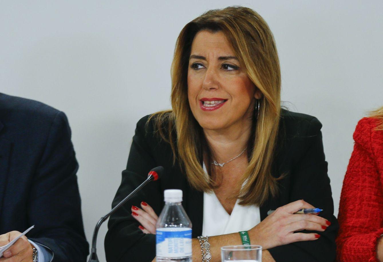 Susana Díaz, en la ejecutiva regional del pasado lunes. (Reuters)
