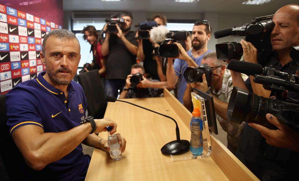Foto: Luis Enrique ofreció la primera rueda de prensa de la temporada (EFE)