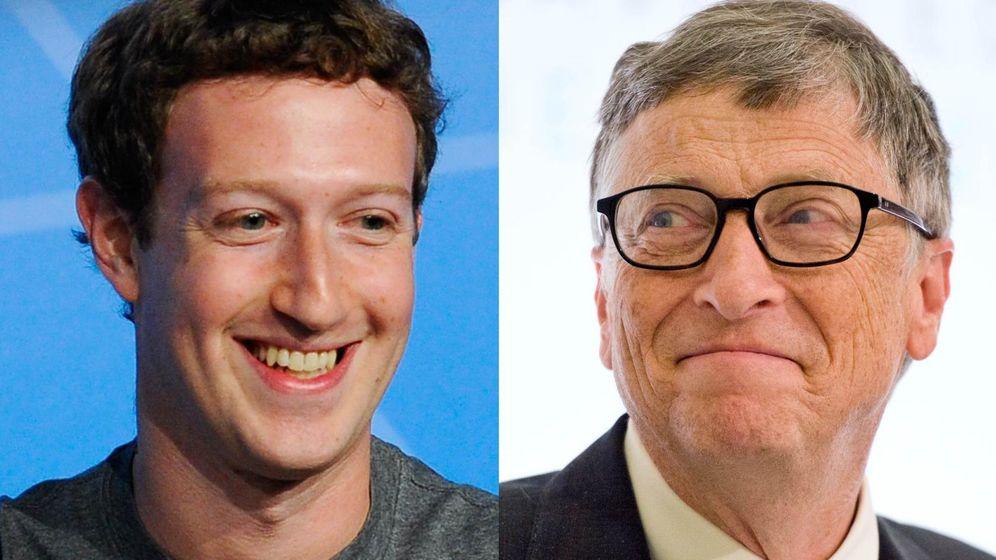 Foto: Mark Zuckerberg y Bill Gates (revista Time)