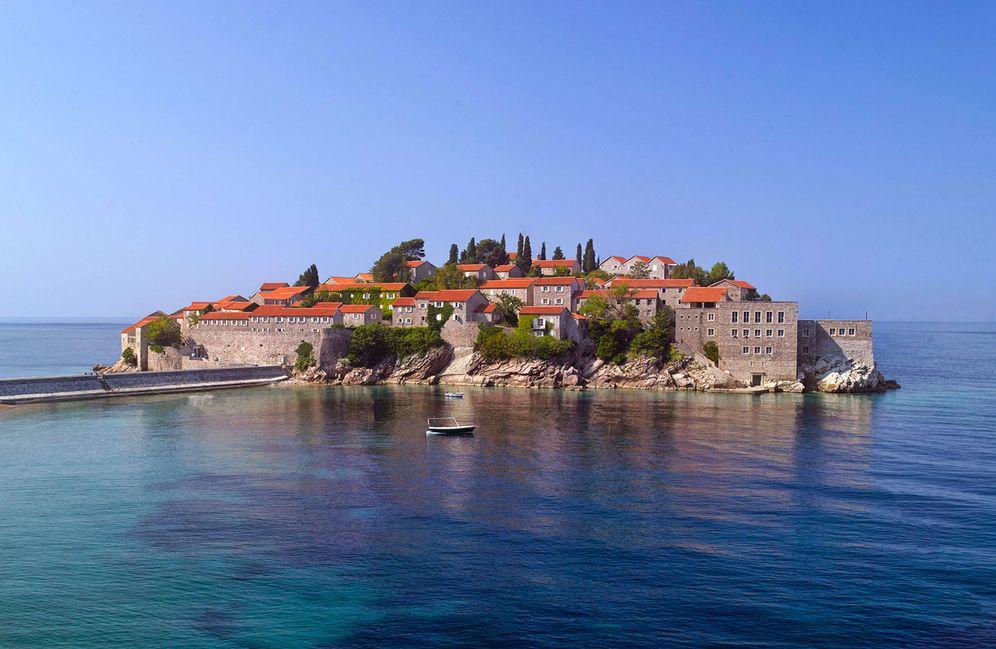 Foto: La isla-hotel, en las Bocas de Kotor. (Foto: Aman Sveti Stefan)