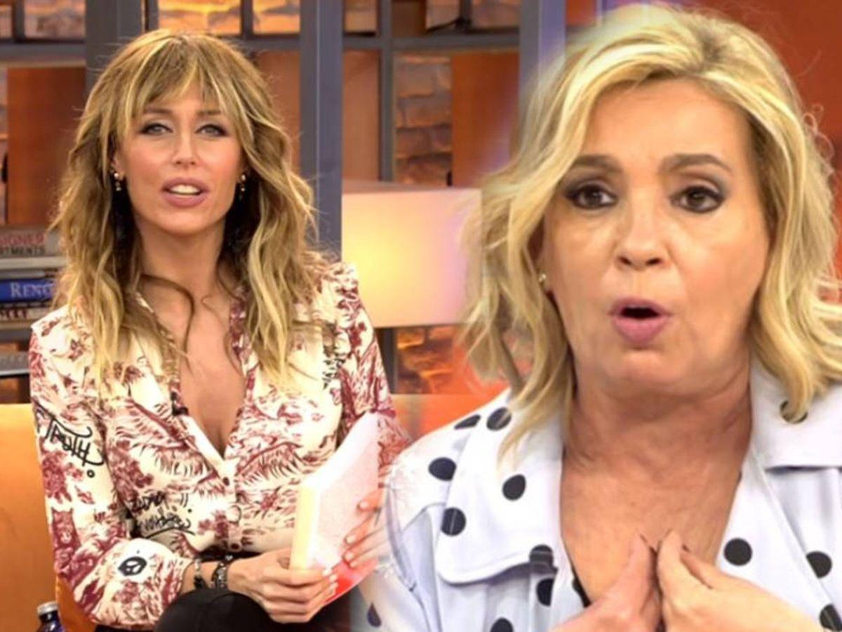 Foto: Emma García y Carmen Borrego, en 'Viva la vida'. (Mediaset España)