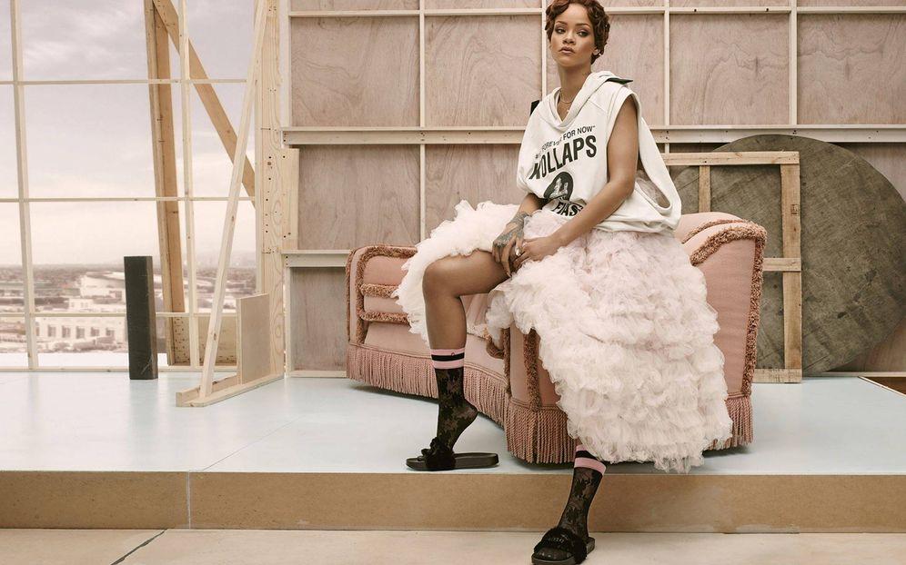 Foto: La cantante Rihanna en una imagen de campaña. (Foto: Fenty for Stance by Rihanna)