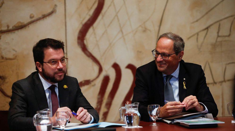 Foto: Quim Torra, junto a Pere Aragonés. (EFE)